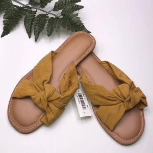 Old Navy Faux-Suede  Mustard Knotted Sandals
